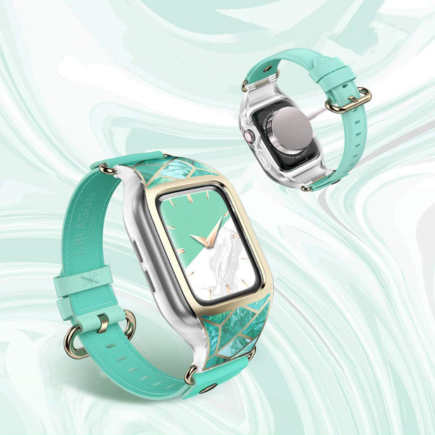 Apple Watch 38mm Cosmo Case - Marble Green