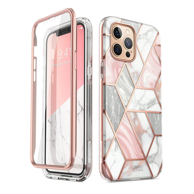 iPhone 12 Pro Max Cosmo Case-Marble Pink