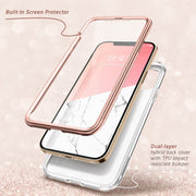 iPhone 12 Cosmo Case-Marble Pink