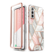 Galaxy S21 Plus Cosmo Case-Marble Pink