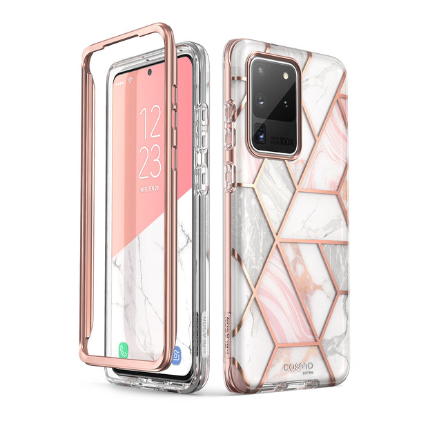 Galaxy S20 Ultra Cosmo Case-Marble Pink