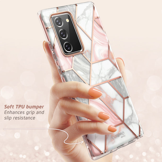Galaxy Note20 Cosmo Case - Marble Pink
