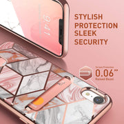 iPhone XR Cosmo Wallet Case-Marble Pink