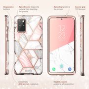 Galaxy S20 Plus Cosmo Case (with Screen Protector)-Marble Pink