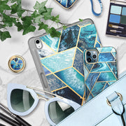 Phone Ring Holder Cosmo Snaps-Ocean Blue