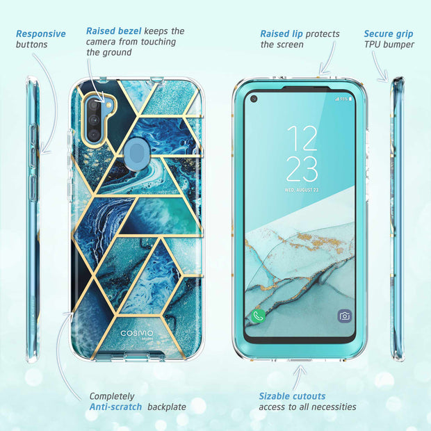 Galaxy A11 Cosmo Case-Ocean Blue