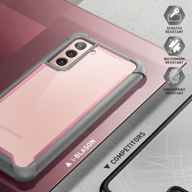 Galaxy S21 Ares Clear Rugged Case-Pink