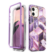 iPhone 12 mini Cosmo Case-Marble Purple