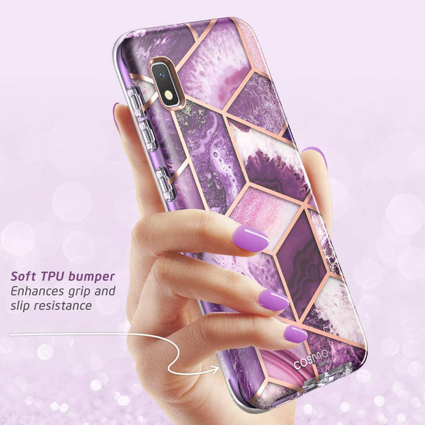 Samsung Galaxy A10e Cosmo Case-Marble Purple