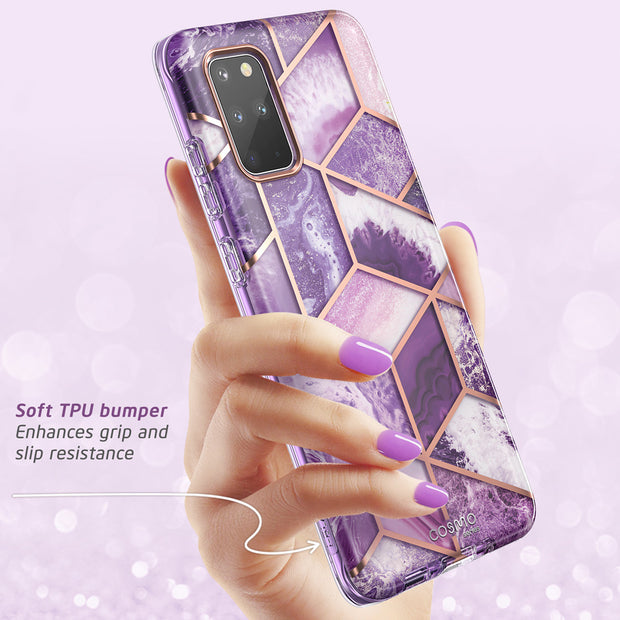 Galaxy S20 Plus Cosmo Case-Marble Purple