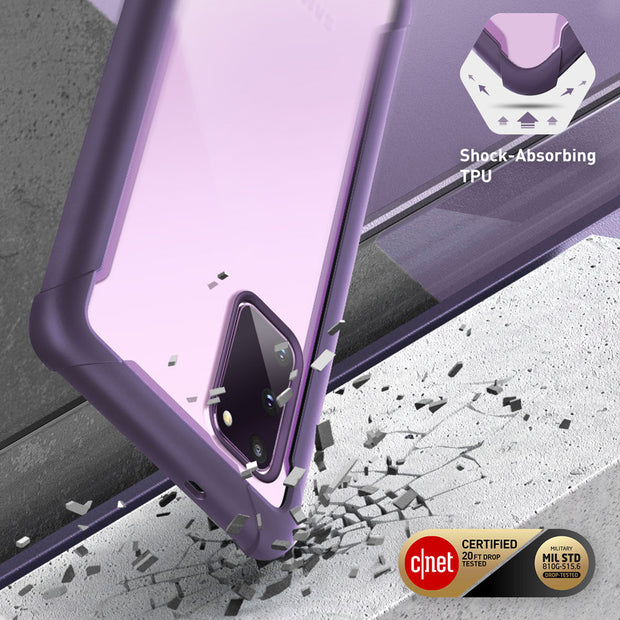Galaxy S20 FE 5G Ares Clear Rugged Case-Purple