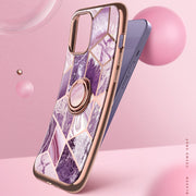 iPhone 12 Pro Cosmo Snap Case-Marble Purple