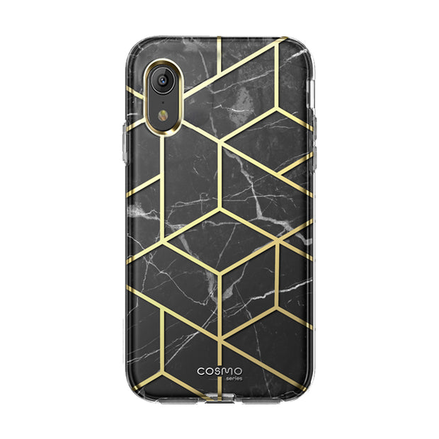 iPhone XR Cosmo Case-Marble Black