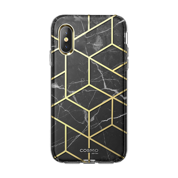 iPhone XS | X Cosmo Case-Marble Black