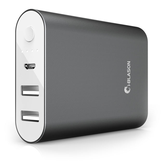 Aero 7800 mAh Dual Port Compact External Battery Portable USB Powerbank-Black