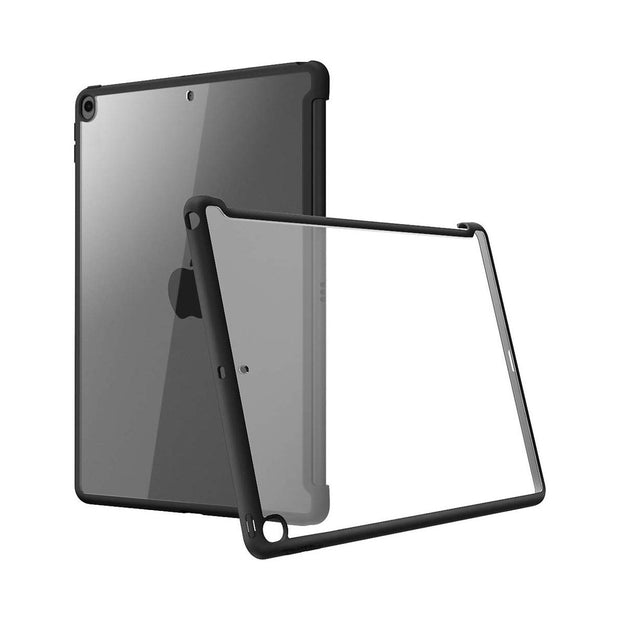 iPad 10.2 inch (2019 | 2020) Halo Smart Keyboard Compatible Clear Bumper Case-Black