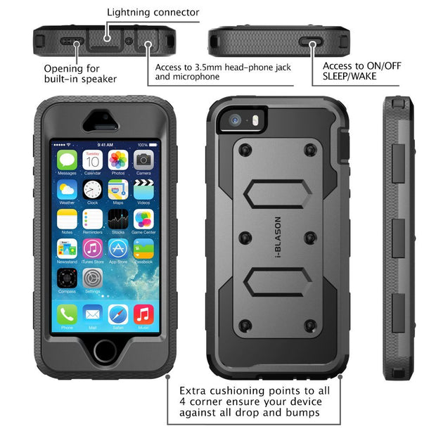 iPhone SE Armorbox Case-Black