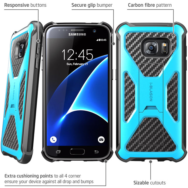 Samsung Galaxy S7 Transformer Case-Blue