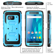 HTC One (M9) Armorbox Case-Blue