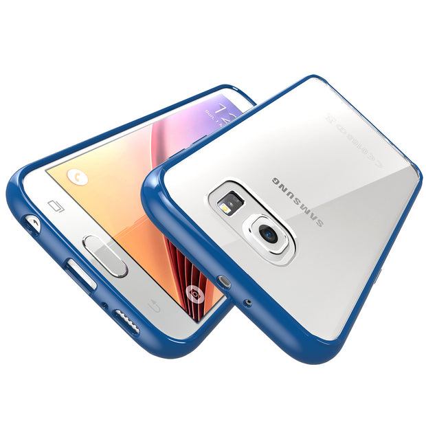 Samsung Galaxy S6 Halo Case-Clear/Navy