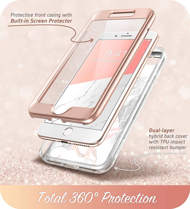 iPhone 8 Plus | 7 Plus Cosmo Case-Marble Pink