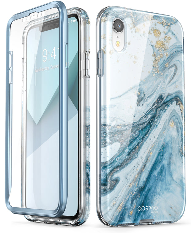 iPhone XR Cosmo Case-Marble Blue