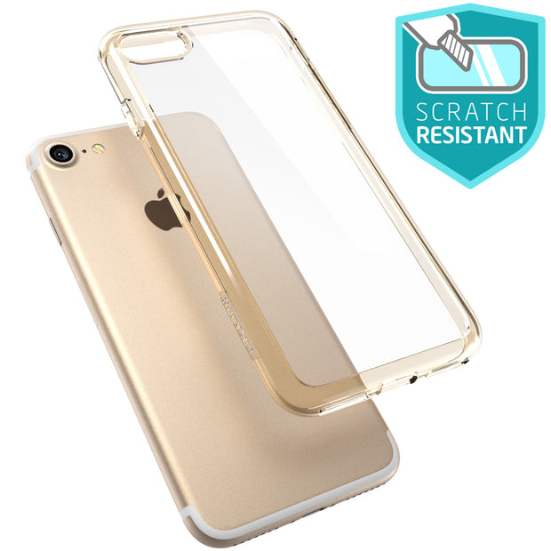 iPhone 7 Halo Case-Clear/Gold