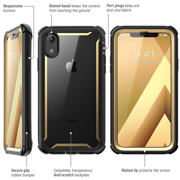 iPhone XR Ares Case-Gold