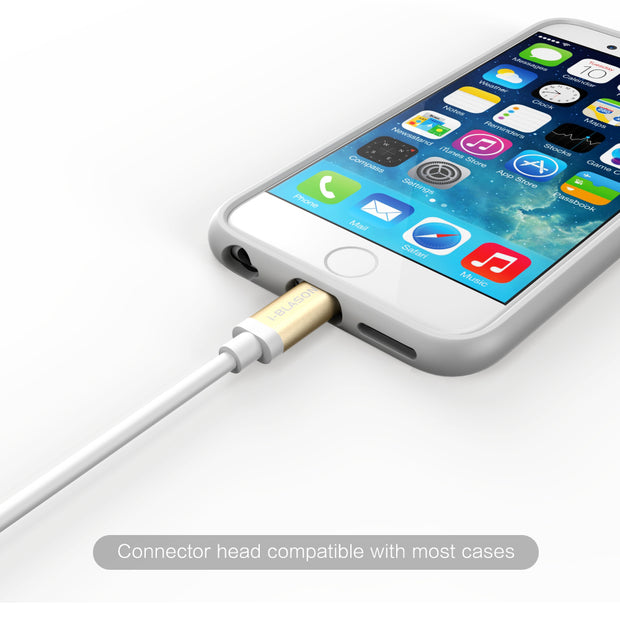 Charge and Sync 3 Ft Lightning Cable for Apple Devices-White