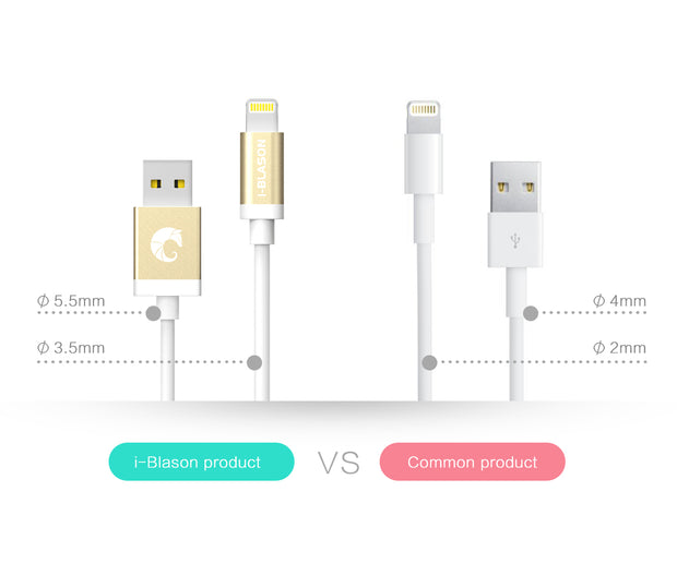 Charge and Sync 6 Ft Lightning Cable for Apple Devices-White