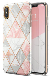 iPhone XS Max Cosmo Lite Case-Marble Pink