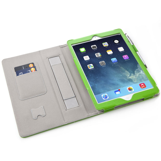iPad Air (2013) Leather Book Case-Green