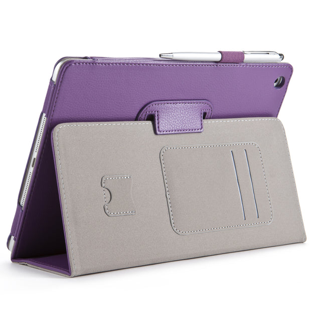 iPad Air (2013) Leather Book Case-Purple