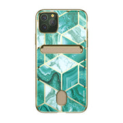 iPhone 11 Pro Cosmo Wallet Case-Marble Green