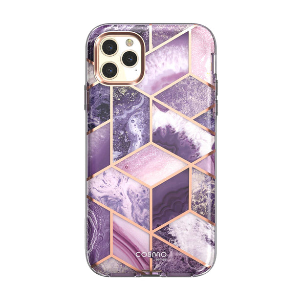 iPhone 11 Pro Max Cosmo Case-Marble Purple