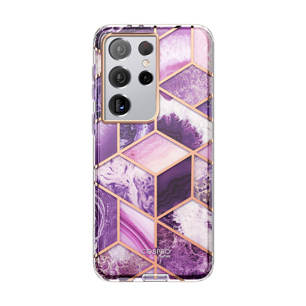 Galaxy S21 Ultra Cosmo Case - Marble Purple