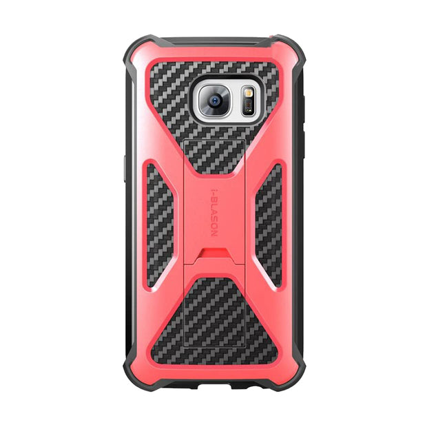 Samsung Galaxy S7 Prime Dual Layer Holster Case-Red