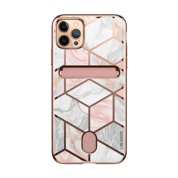 iPhone 12 Pro Cosmo Wallet Case-Marble Pink
