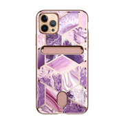 iPhone 12 Pro Max Cosmo Wallet Case-Marble Purple