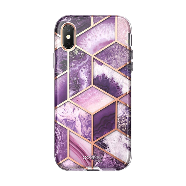 iPhone XS | X Cosmo Case-Marble Purple