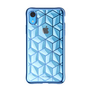iPhone XR Cube Case-Blue