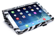 iPad Air 2 (2014) Leather Book Case-Black/White