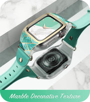 Apple Watch 40mm Cosmo Case - Marble Green