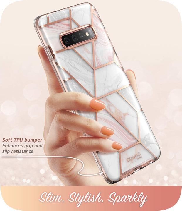 Samsung Galaxy S10 Cosmo Case-Marble Pink
