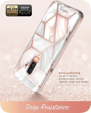 Samsung Galaxy S9 Plus Cosmo Case-Marble Pink