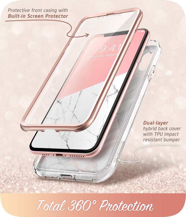 iPhone XS | X Cosmo Case-Marble Pink