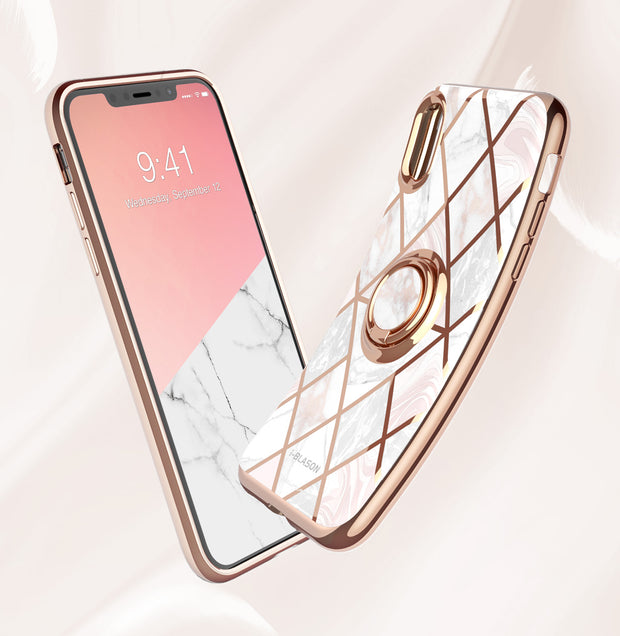 iPhone XR Cosmo Snap Case-Marble Pink