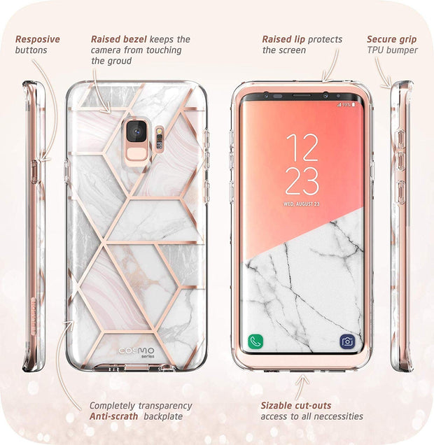 Galaxy S9 Cosmo Case - Marble Pink