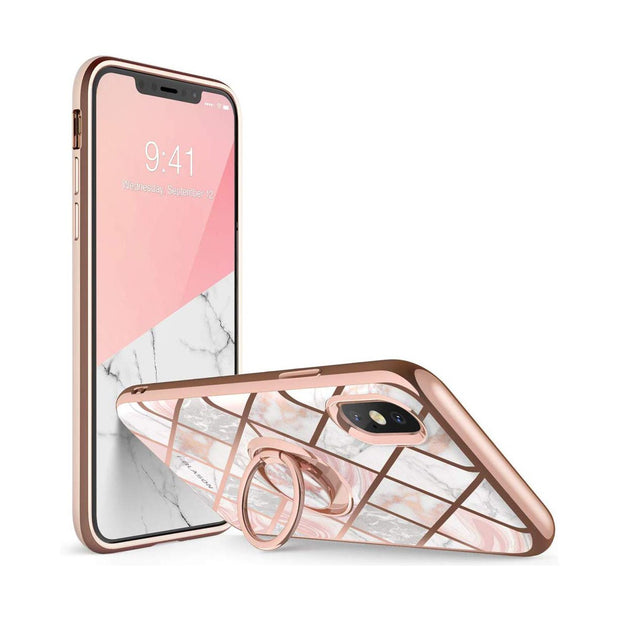 iPhone XS Max Cosmo Snap Case-Marble Pink