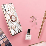 iPhone 11 Cosmo Snap Case-Marble Pink